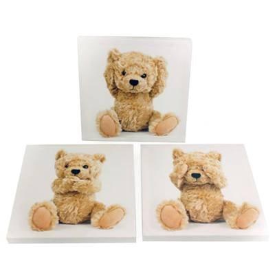Set With 3 20X20 Teddy Bear Canvas