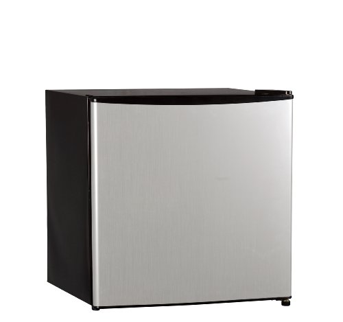 Midea Hs-65L Compact Single Reversible Door Refrigerator With Freezer, 1.7 Cubic Feet Stainless-Steel
