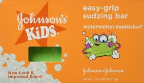 Johnson's Kids Easy-grip Sudzing Bar Watermelon Explosion 2.46 Fl Oz (Pack of 2)