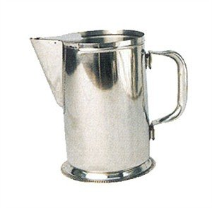 Winco Stainless Steel Water Pitcher with Guard, 64-Ounce
