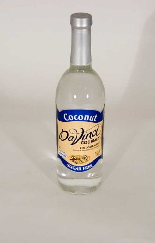 DaVinci Sugar Free Coconut 750ml Glass Bottles 2 Pack