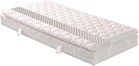 Badenia Bettcomfort 03 880 540 143 Matratzenauflage Senso mit Noppenstruktur, ca. 140 x 200 cm, weiß