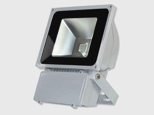 2Pcs 80 Watt (80W) Led Weatherproof Led Floodlight Outdoor Security Flood Light, 85-265V Ac, Rgb 16 Colors,Memory Function Remote Controller