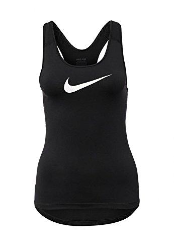Nike donna D-tank-shirt Pro Cool, colore nero/bianco, M, 725489