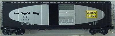 Micro Trains N 31280, 50' Standard Box Car, Single Door, Central of Georgia CG#1572