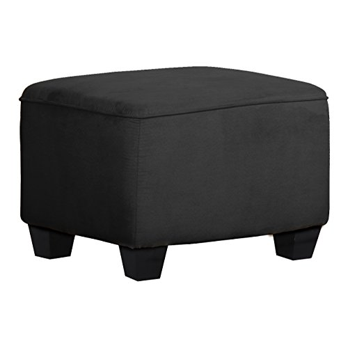 Shermag Upholstered Ottoman, Grey