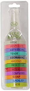 Fred and Friends BEER BANDS Drink Markers - Personalities, Set of 12