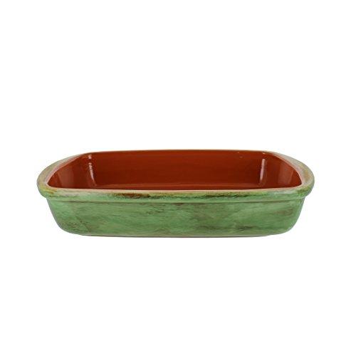 French Home 12-Inch Cilantro Green Stoneware  Rectangular Baker