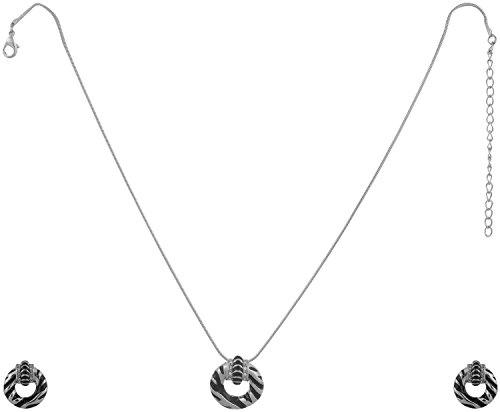 sempre-london-925-silver-plated-circle-of-fame-designer-pendant-with-designer-earrings-in-crystal-di