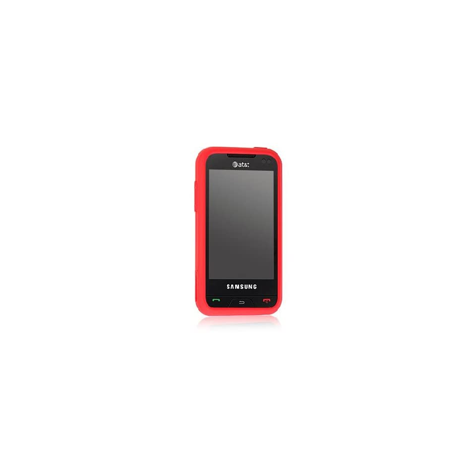 Red Soft Silicone Gel Skin Cover Case for Samsung Eternity SGH A867 Cell Phones & Accessories