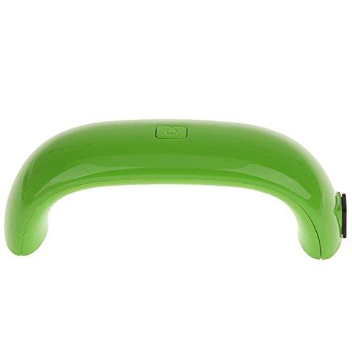 Mini Lampe UV LED 9W Séchoir à Ongles pour Vernis à Ongles Manucure Nail Art Vert