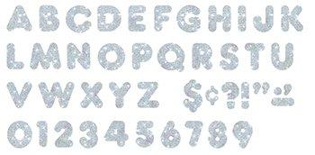 """Trend Enterprises Trend Enterprises Sparkle Casual Ready Letters, 125 per Package, 3"""", Silver (T-79007)"""