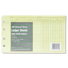 - Extra Sheets for Four-Ring Ledger Binder, 5 x 8-1/2, 100/Pack