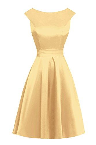 Queenmore Women's Short Satin Dress Cap Sleeve Gown for Special Occasion US12