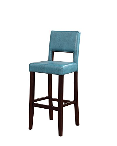 Linon Vega Bar Stool, Aegean Blue (Amazon Bar Stools compare prices)