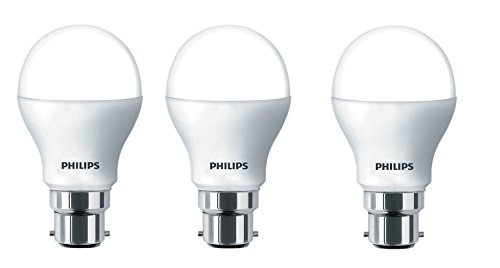 Philips 7W B22 LED Bulb (White, Pack of 3) With 3 Free 0.5W LED Bulbs Combo