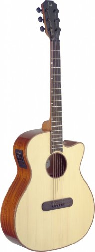 James Neligan Lis-Acfi Lismore Series Electro-Acoustic Auditorium Guitar Cutaway