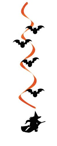 Creative Converting 5 Count Witch and Bats Dizzy Danglers Hanging Party Decorations - 1