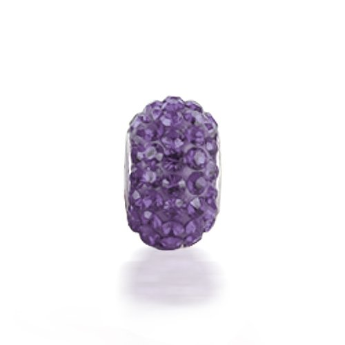 Bling Jewelry Sterling Silver Purple Crystal Bead Chamilia Troll Pandora Bead Compatible