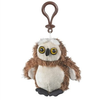 Funny Owl Plush Backpack Hanger with Clip