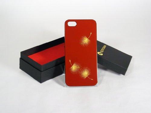 Great Sale Maki-e iPhone 5 Cover Case Made in Japan - Hika Chinkin (Blown Dandelion Seed)
