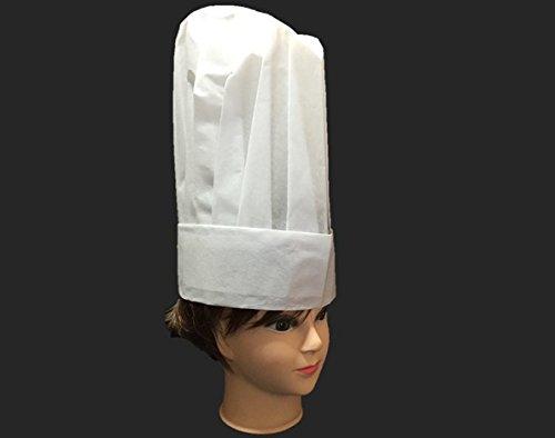 大量 セット コック帽 業務 用 極上の フィット 感 不織布 抗菌 使い捨て タイプ コック 帽子 制服 丸帽 ホワイト (m 白 高 52枚 セット)
