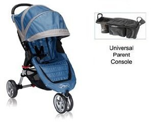 Baby Jogger City Mini Stroller With Parent Console (Blue/Gray) front-764330