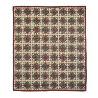"""Amazingly Red Quilt Queen/Full 85""""x 95"""" QQAMRD by Patch Magic"""