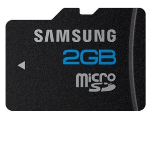 Samsung MB-MS2GA 2 GB microSD Flash Card (Color: Brushed metal)