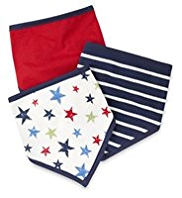 3 Pack Cotton Rich Assorted Dribble Bibs