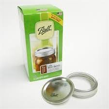Ball Regular mouth; includes both LIDS & BANDS (rings) for canning and mason jars, 96 lids and 96 bands for a total of 8 dozen.