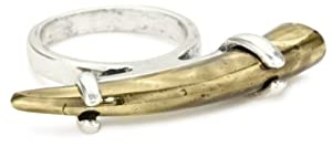 House of Harlow 1960 Two Tone Horn Stack Ring, Size 6