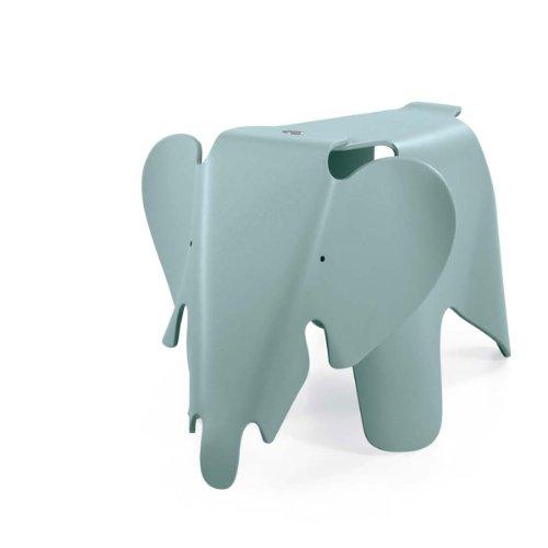 Vitra 21502902 Eames Elephant eisgrau, durchgefärbtes Polypropylen, matte Oberfläche, 417 x 412 x 785 mm
