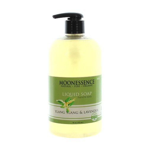 Moonessence Ylang Bath and Body Liquid Soap, Lavender, 16 Ounce