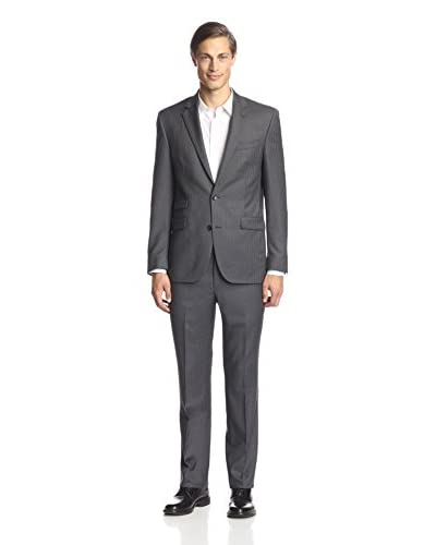 Kenneth Cole New York Men's Two Button Stripe Suit
