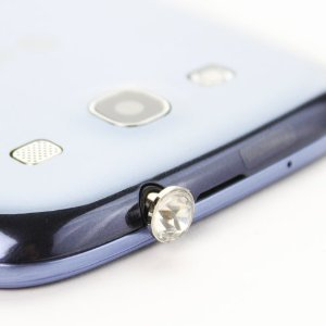 Fosmon Diamond Design Dust Cap for Any Device with 3.5mm Plug - Clear