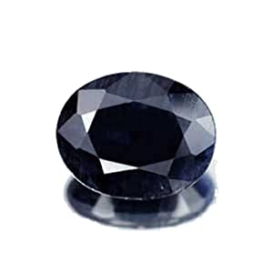 Black Sapphire Oval Unset Loose Genuine Gemstone Over 3 Carats 10mm
