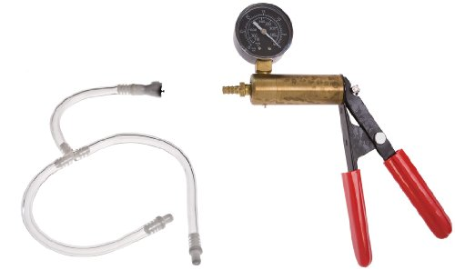 31vxdrqasxL. SL500  The Phenom Hand Operated Metal Brass Ergonomic Design Vacuum Trigger Pump System with Pressure Gauge and Dual Calibration +  T  Dual Buddy Connector Hose with Female and Male Connector Adapter fits Pumps