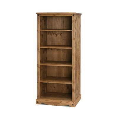 Corona Mexican Solid Waxed Pine Large Bookcase