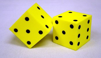 Foam Dice 2 Dot (Set of 2) [Set of 2]