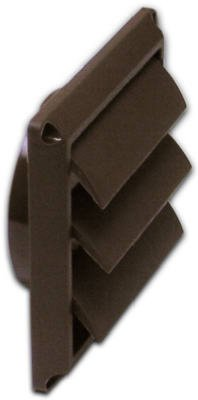 Lambro Industries 2677B Dryer Vent Face Plate, Louvered, Brown, 4-In. - Quantity 12 front-465405