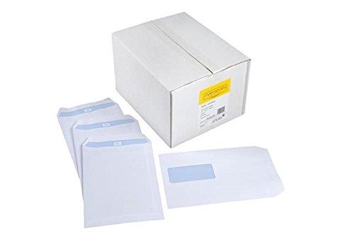 Fiume Serie Spey Bianco, buste, 90g/mq (Portafoglio)-dimensioni: dl110mm X 220mm-Finestra: finestra, senza chiusura: chiusura gommata. DL110mm x 220mm White