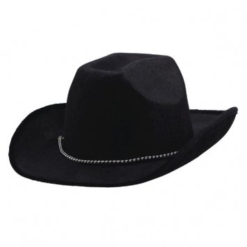 Amscan 1 X Black Velour Cowboy Hat