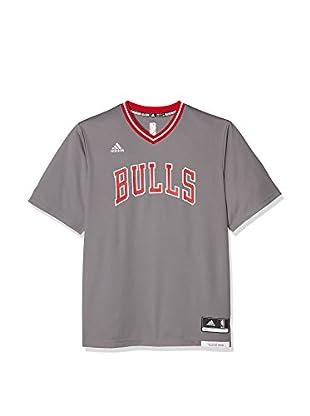 adidas Camiseta Manga Corta Chicago Bulls (Gris / Rojo / Blanco)