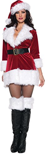 Underwraps Womens Sexy Secret Santa Claus Christmas Holiday Party Fancy Costume