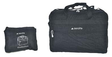 """Aerolite® Léger Extra Large Fold Noir Loin Fourreau / Cabin Approuvé Bag Vol de sac à dos (18"""", Holdall)"""