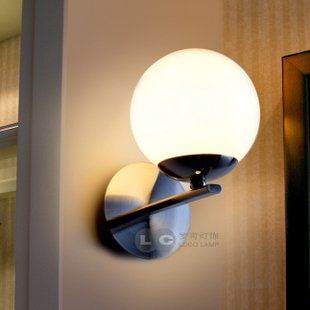 Metal Glass Wall Sconce in ball Shape