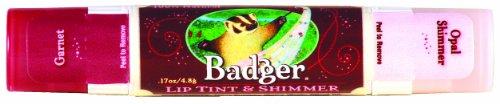 Badger リップティント-0 - shimmer Garnet