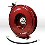 "Alemite 8078-B Heavy-Duty Hose Reel, 50' Hose Length, 1/2"" NPTF Inlet, 3/8"" NPTF Outlet, 6000.0 psi Max, 1/2"" NPTF Inlet x 3/8"" NPTF"