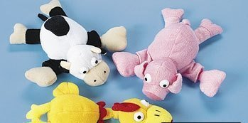 Playmakers Plush Flingshot Barnyard Animals with Noisemakers, Set of 3 by Playmakers